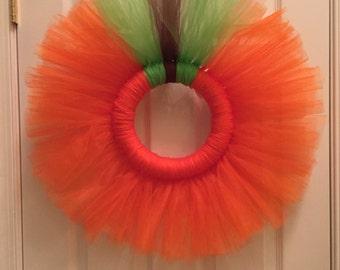 Pumpkin Tulle Wreath