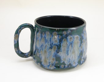 huge mug 28 oz mug  tea mug  beer mug Stoneware food safe lead free Glaze made to order