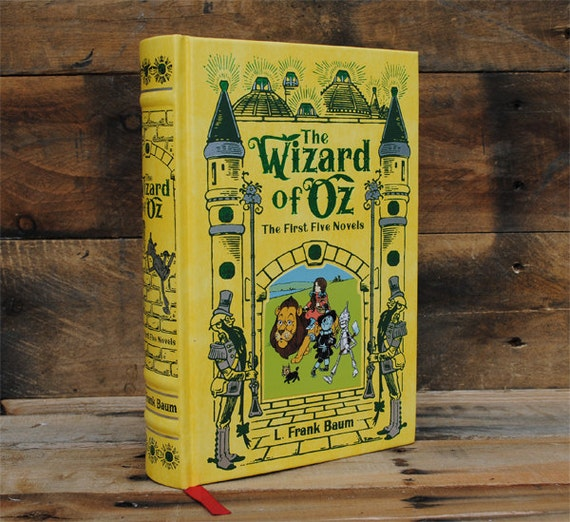 Hollow Book Safe - The Wizard of Oz - Yellow Leather Bound