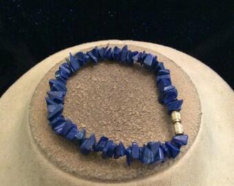 Vintage Royal Blue Glass Stone Bracelet