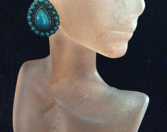 Vintage Blue Stone Dangle Earrings
