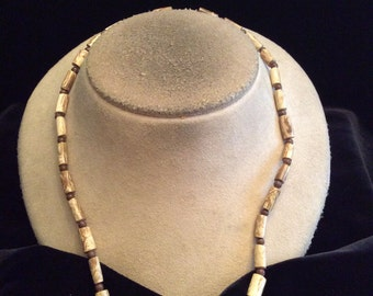 Vintage Shades Of Brown Glass Beaded Necklace