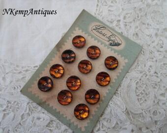 Vintage buttons on original card 1950's