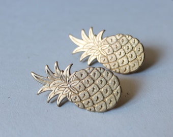 "Jewel of pass / pin double ""Big pineapple"" - golden"