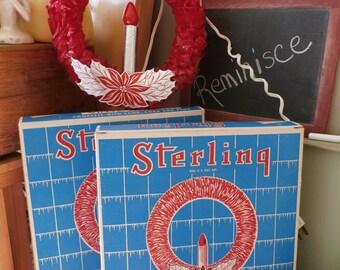 Vintage Wreath Sterling Vinyl Wreath