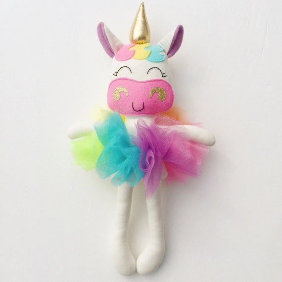 unicorn doll fabric doll baby gift rainbow unicorn