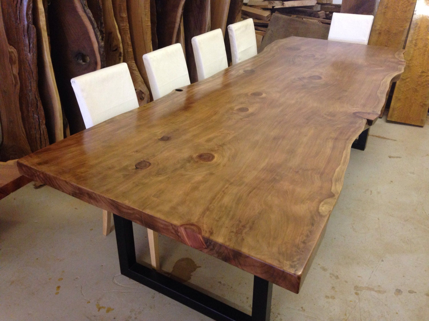 live edge dining table wood slab dining table live edge. Black Bedroom Furniture Sets. Home Design Ideas