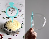 3D Printed Cupcake Sticks Bubble Wands Ring