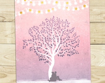 Winter Tree Wedding Invitation Printable DIY
