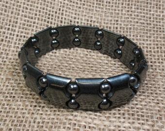 Magnetic Hematite Stretch Bracelet - Item 73291