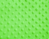 Lime Dimple Dot Minky Fabric, Sold by the Yard 6013