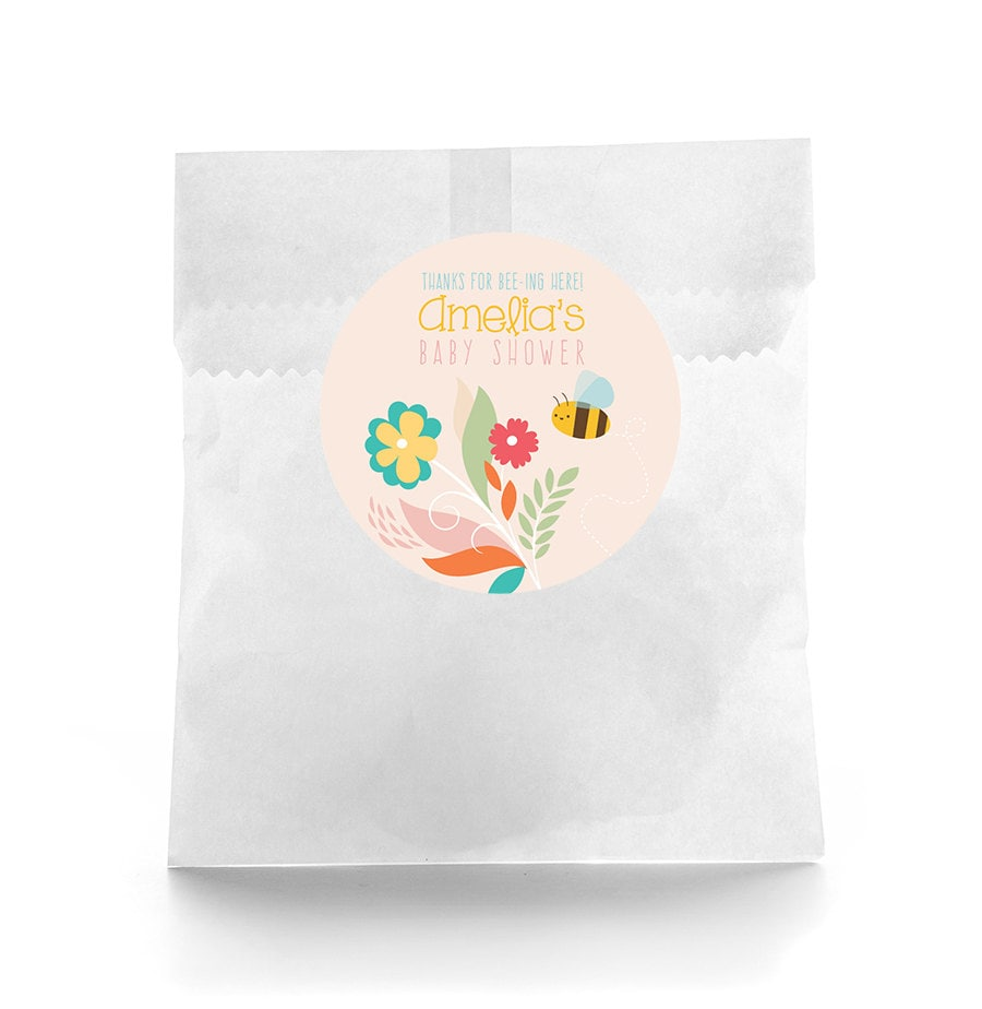 Baby Shower Stickers For Favors: Baby Shower Favor Labels