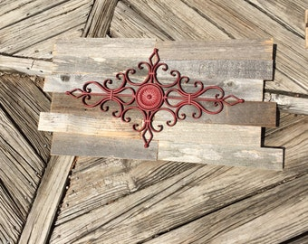 Rustic metal wall hanging
