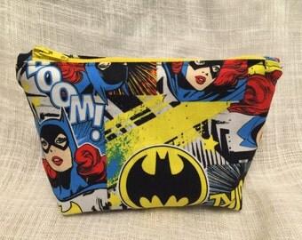 Small Batgirl Zipper Clutch