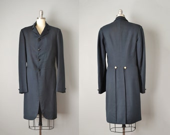 Men's Vintage Edwardian Frock Coat // 1910's // S - M
