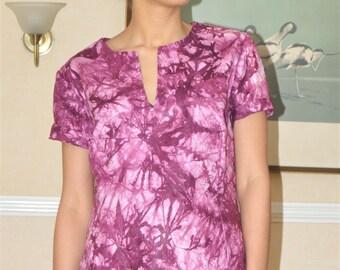 Dark Pink Tie Dye Shirt