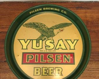 Yusay Pilsen Beer Tray