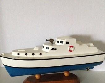 Cabin Cruiser Wooden Model