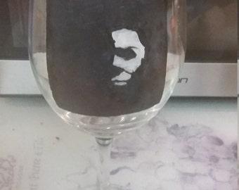 Michael Myers Wine Glass