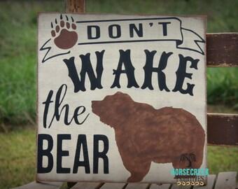 Bear Nursery Decor, 12x12, Bear Nursery, Rustic