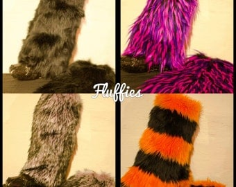 Fuzzy Legwarmers (*Any Color*)