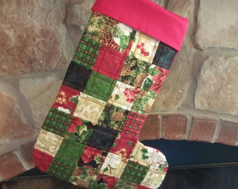 Hand made quilted Christmas stocking.