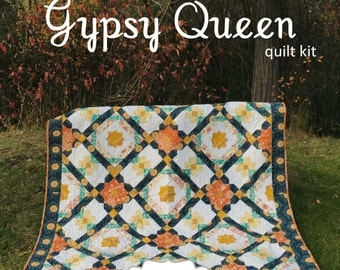 SALE - Gypsy Queen Quilt Kit in Artisan by Pat Bravo for Art Gallery Fabrics