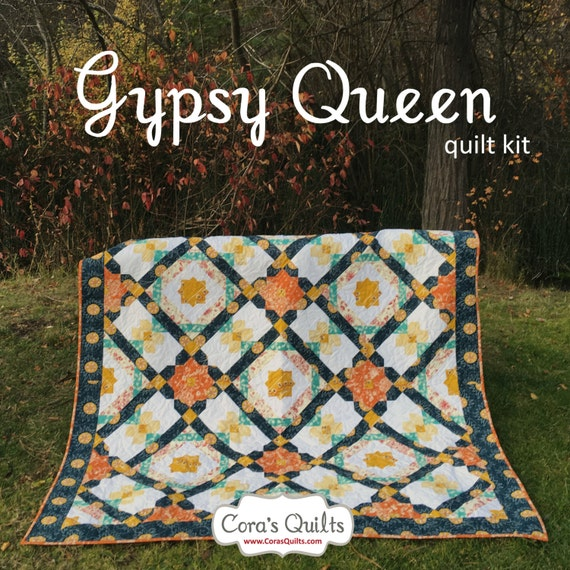 Line Art Quilt Kit : Sale gypsy queen quilt kit in artisan by pat bravo for art