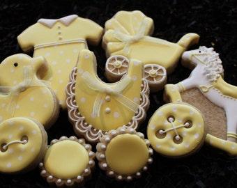 Baby Shower Cookies, Baby Shower Favors, Cookies
