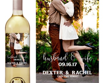 Wedding Wine Label - Personalized Wine Label - Custom Wine Label - Wedding Wine Bottle Label - Wine Label Photo