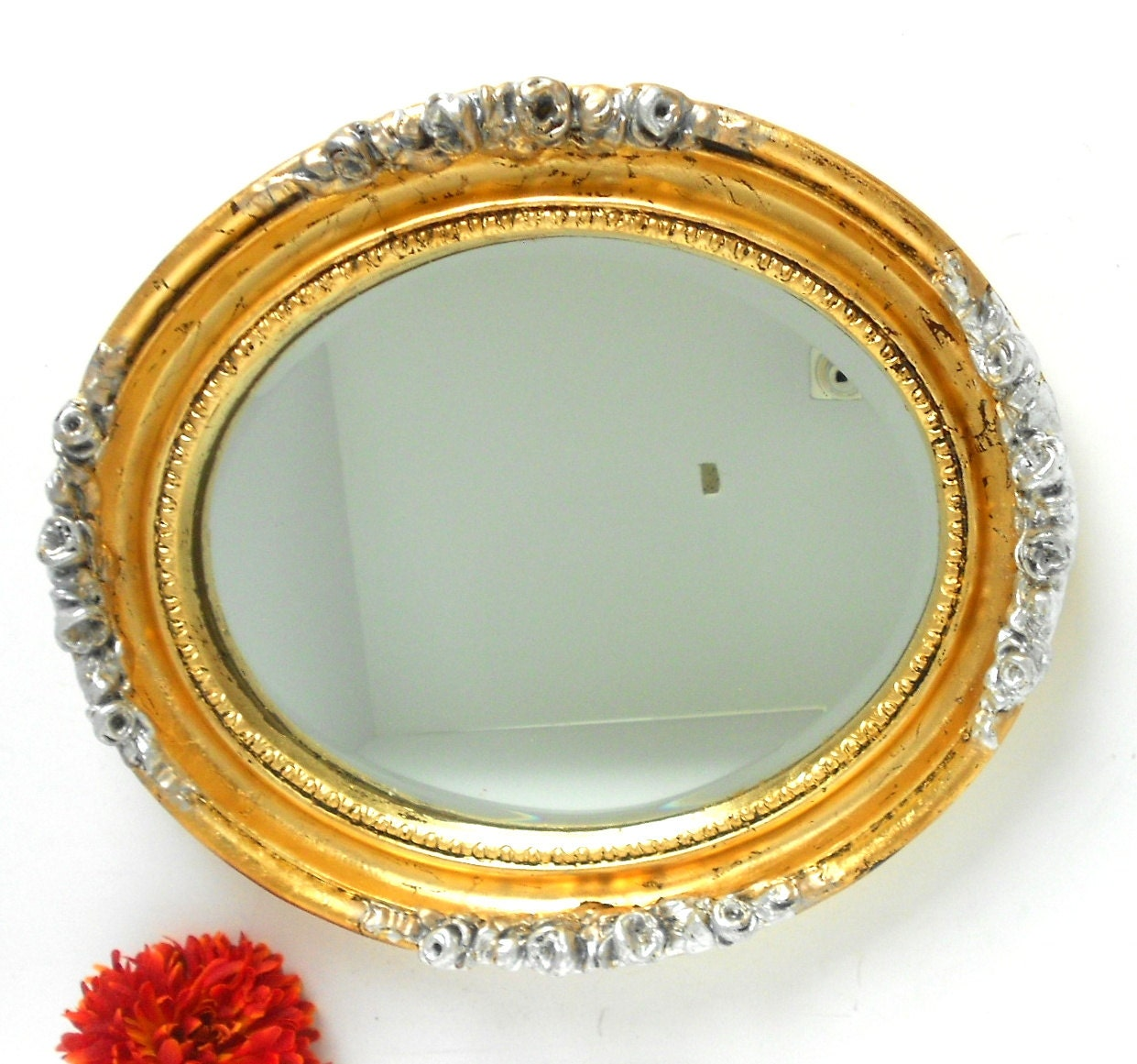Mirror large oval mirror gold mirror oval wall mirror for Big gold mirror