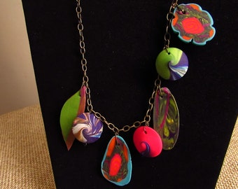 Assorted Charms Polymer Clay Necklace Jewelry