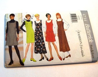 Butterick 4734 fitted A line jumper or sleeveless dress sewing pattern