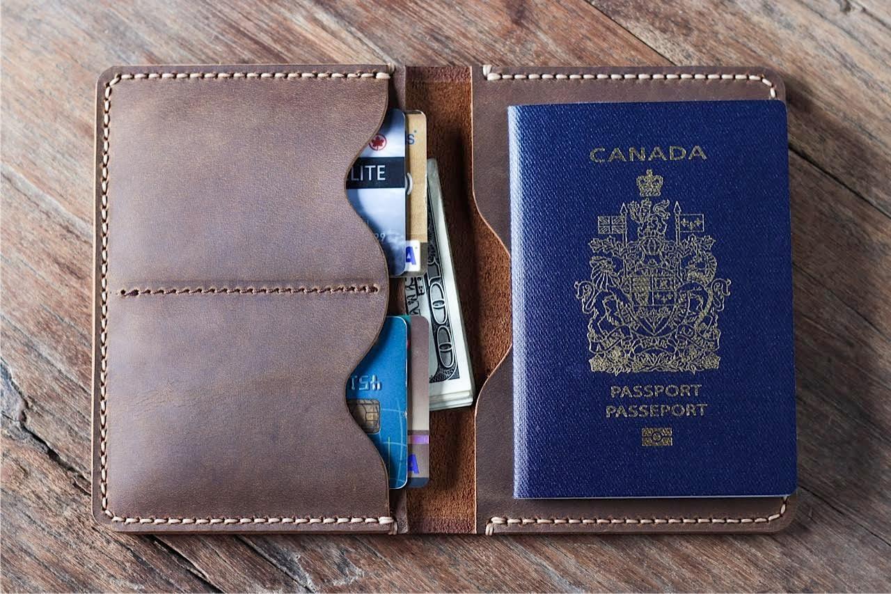 Scrapbook paper carrying case - Passport Wallet Leather Passport Wallet Travel Wallet Passport Case Leather Passport Holder Document Wallet Listing 021