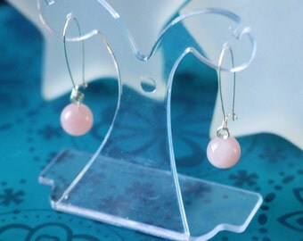 Star Rose Quartz Earrings