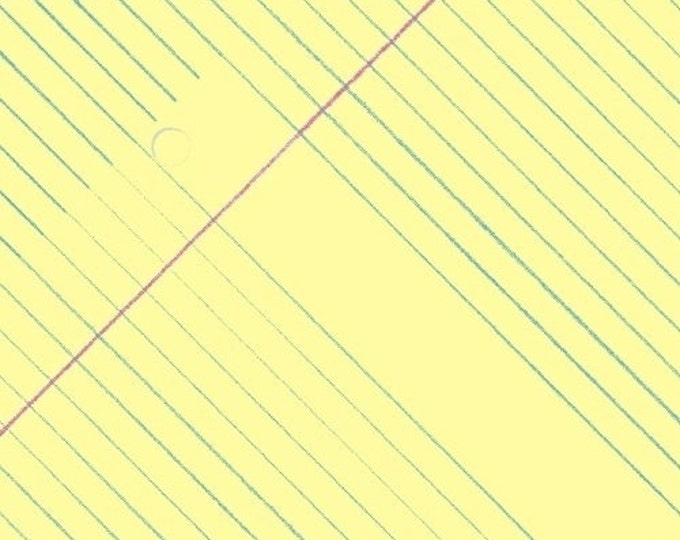 Sale!!- Notebook Paper in Yellow- Paper Obsessed by Heather Givans- Windham Fabrics