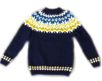 Nordic Style Children's Knitted Sweater