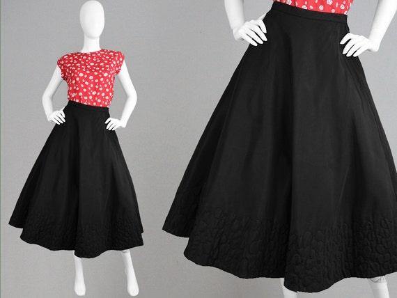 vintage des ann es 50 ann es 1950 jupe en taffetas jupe jupe. Black Bedroom Furniture Sets. Home Design Ideas