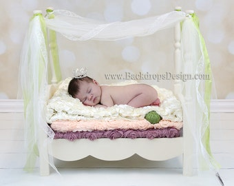 Newborn Princess bed photography prop  Princess and the Pia baby bed photo prop