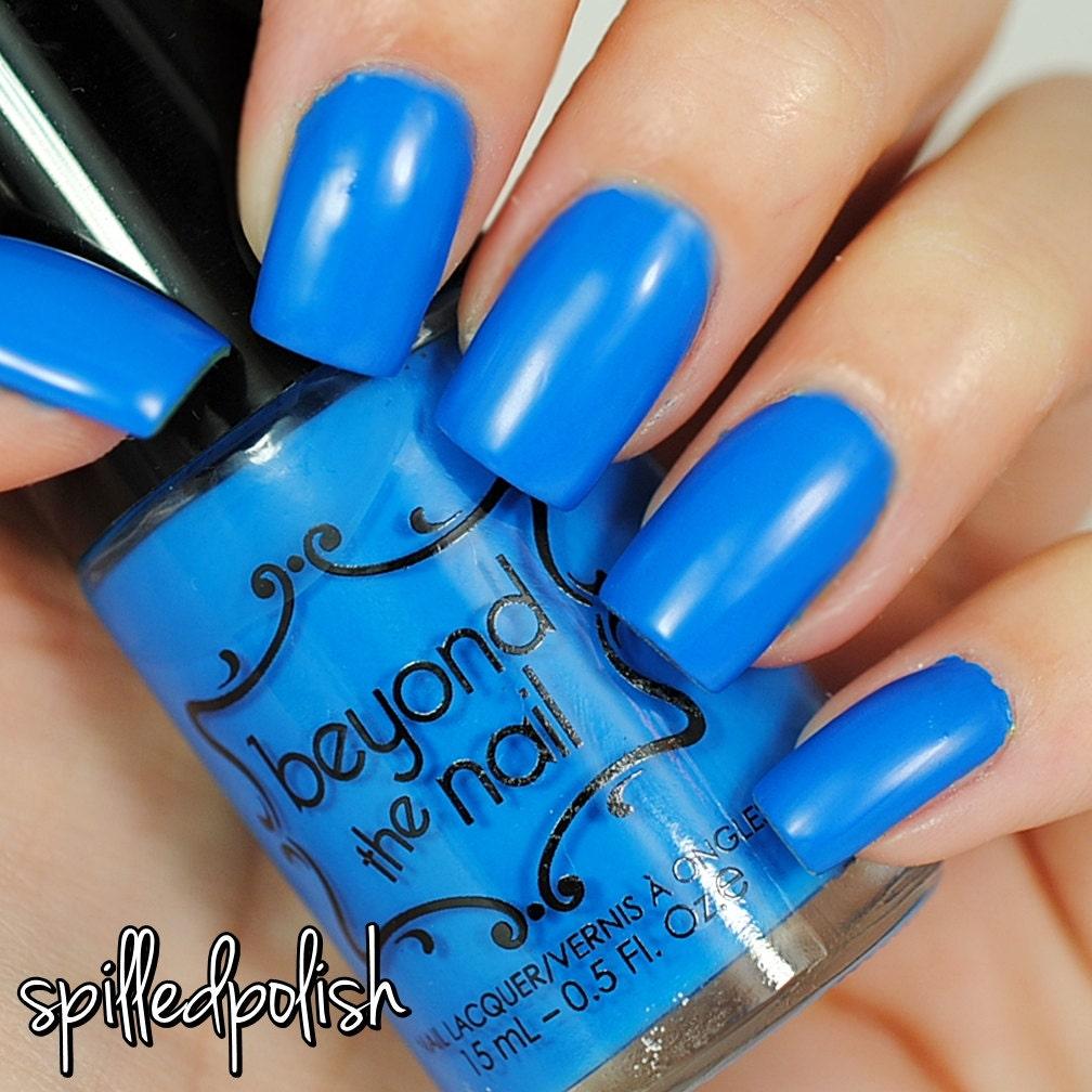 Neon Blue Nail Polish: UV Reactive From Beyondthenail On