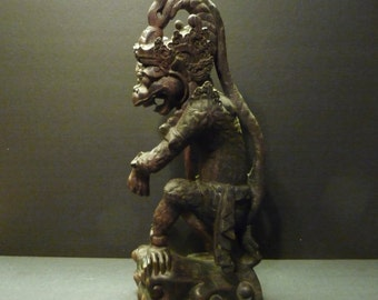 Final clearance -Vintage Balinese Monkey Idol carved from Ebony