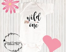 Wild One Birthday Outfit, Arrow Bodysuit, Wild One Bodysuit, Birthday Bodysuit, First Birthday