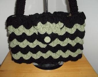 Crochet crocodile purse