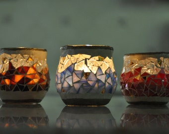 stained glass, mosaic, Candle holder (horizon)