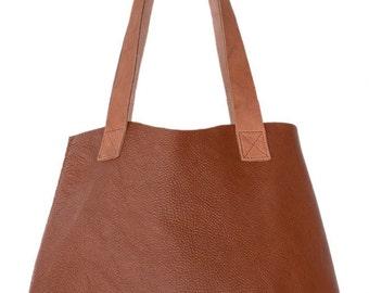 Brown Leather Tote, Handbag, Oversized handbag, baby bag