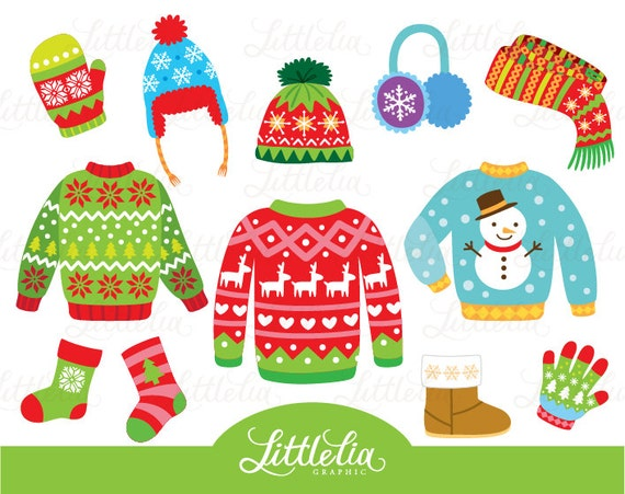 Ugly Christmas sweater Christmas Clothing clipart 15075