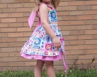 Handmade Peekaboo Dress Paw Patrol Inspired sizes newborn - girls 8