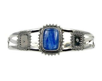 Kyanite & .925 Sterling Silver Cuff Bracelet , AD441