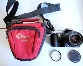 Canon Eos Rebel XS Film Camera with Canon EF Zoom 35-80mm f/4-5.6 III Lens