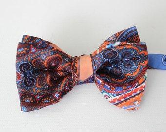 Bow-tie, men bow tie,bow tie,silk,paisley,colorful